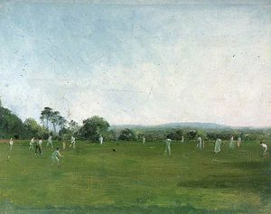 Henry Thomas Schafer - Partido Cricket En Heathfield Park, Sussex