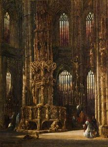 Henry Thomas Schafer - El interior Of El Church Of San Lawrence , Nuremberg , Germany