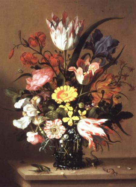 flores en a jarrón de Jacob Marrel (1614-1681, Germany)