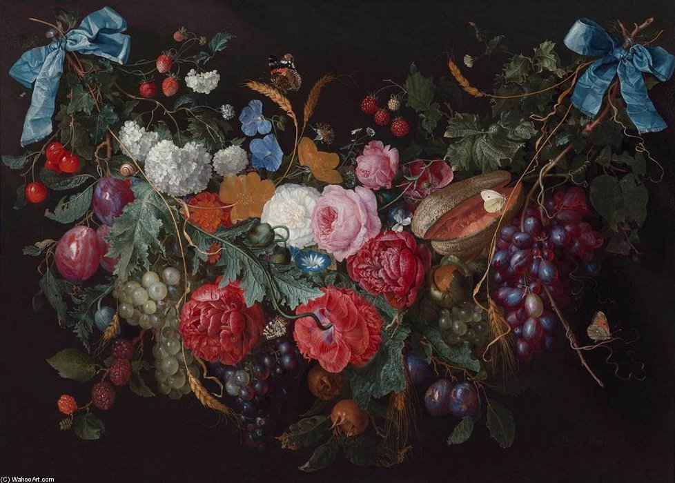 Un Swag Of Flores de Jacob Van Walscapelle (1644-1727, Netherlands)