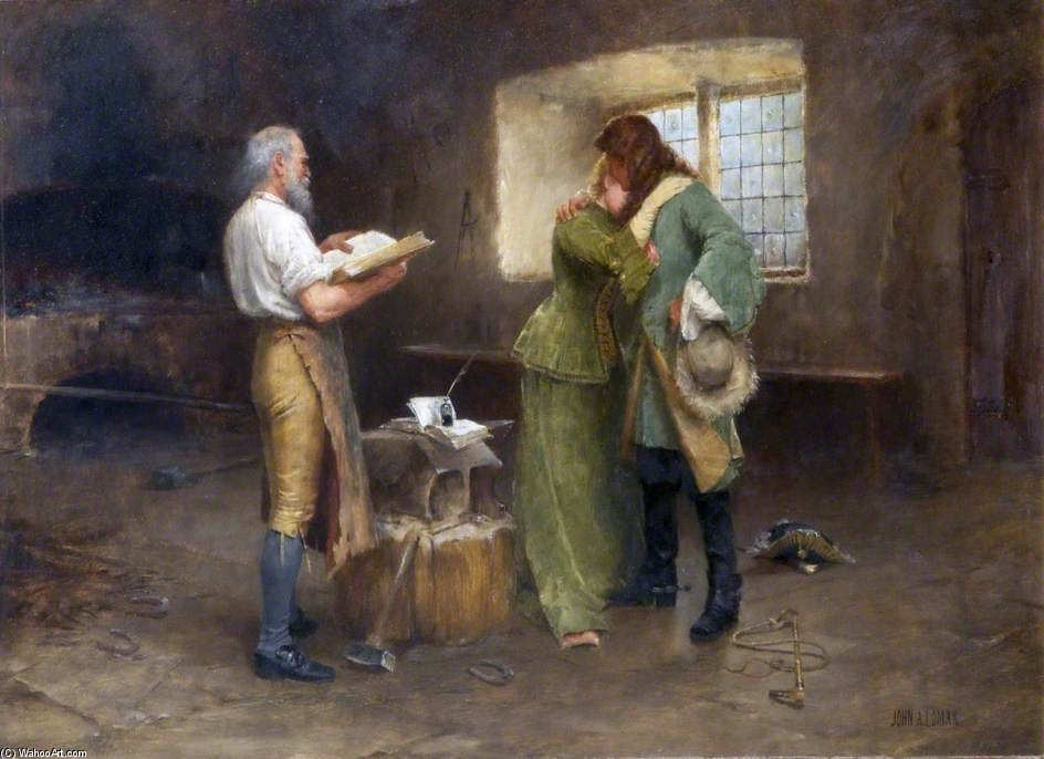 sobre el borde de John Arthur Lomax (1857-1923, United Kingdom)