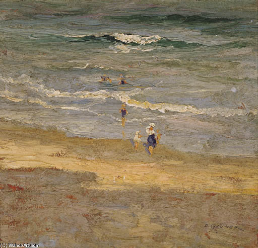 El entrante Marea de Elioth Gruner (1882-1939, New Zealand)