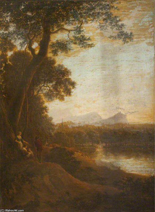 opinión del paisaje de stirling Castillo de Anthony Devis (1729-1816, United Kingdom)
