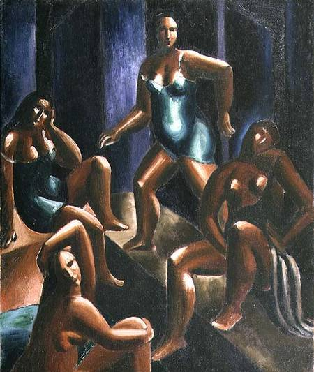 bañistas de Christopher Wood (1901-1930, United Kingdom)