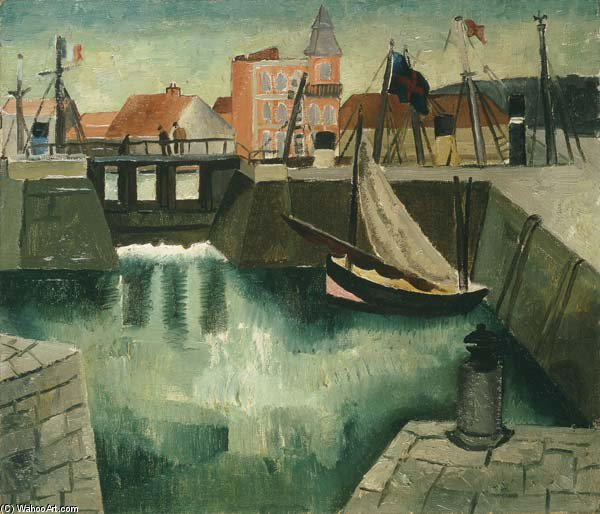 Puerto, Dieppe de Christopher Wood (1901-1930, United Kingdom)