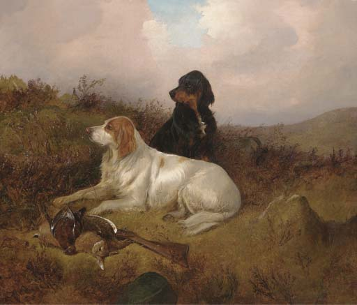 Setters custodiaban la Bolsa de Colin Graeme Roe (1858-1910, United Kingdom)