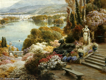 Lago Mayor - de Ebenezer Wake Cook (1843-1926, United Kingdom)