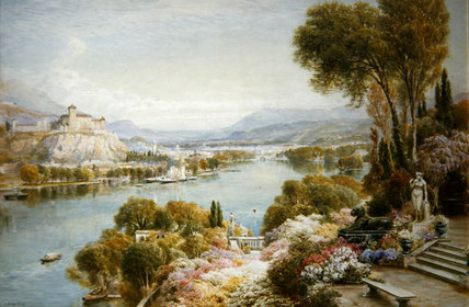 Lago Mayor de Ebenezer Wake Cook (1843-1926, United Kingdom)