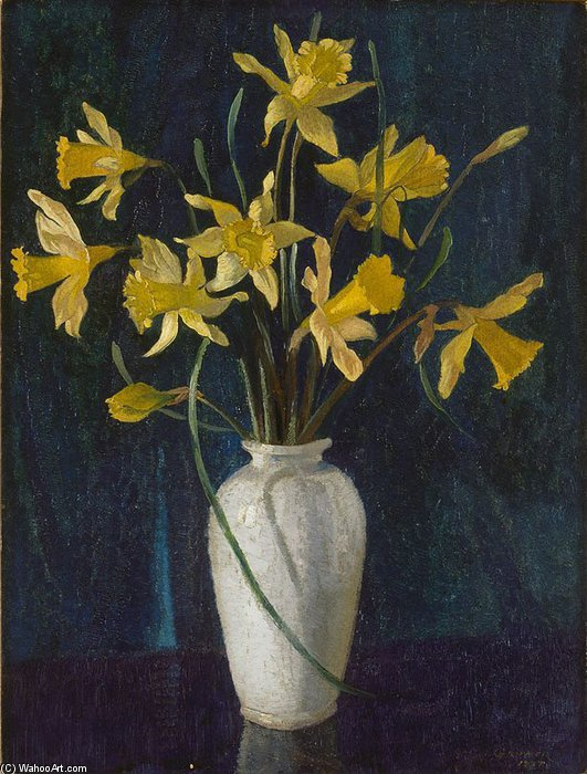Narcisos de Elioth Gruner (1882-1939, New Zealand)