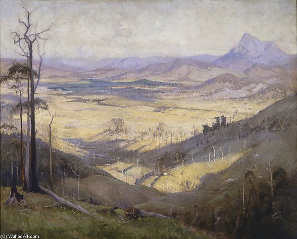 Valley Of The Tweed de Elioth Gruner (1882-1939, New Zealand)