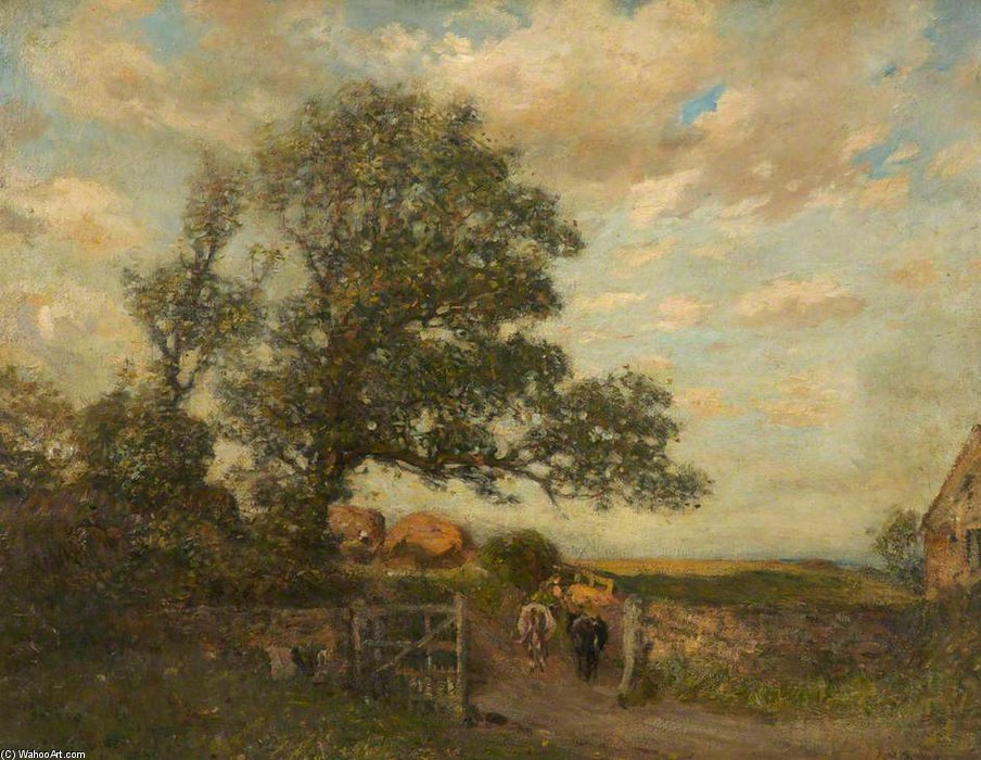 paisaje del agrario  escena  de Frederick William Jackson (1859-1918, United Kingdom)