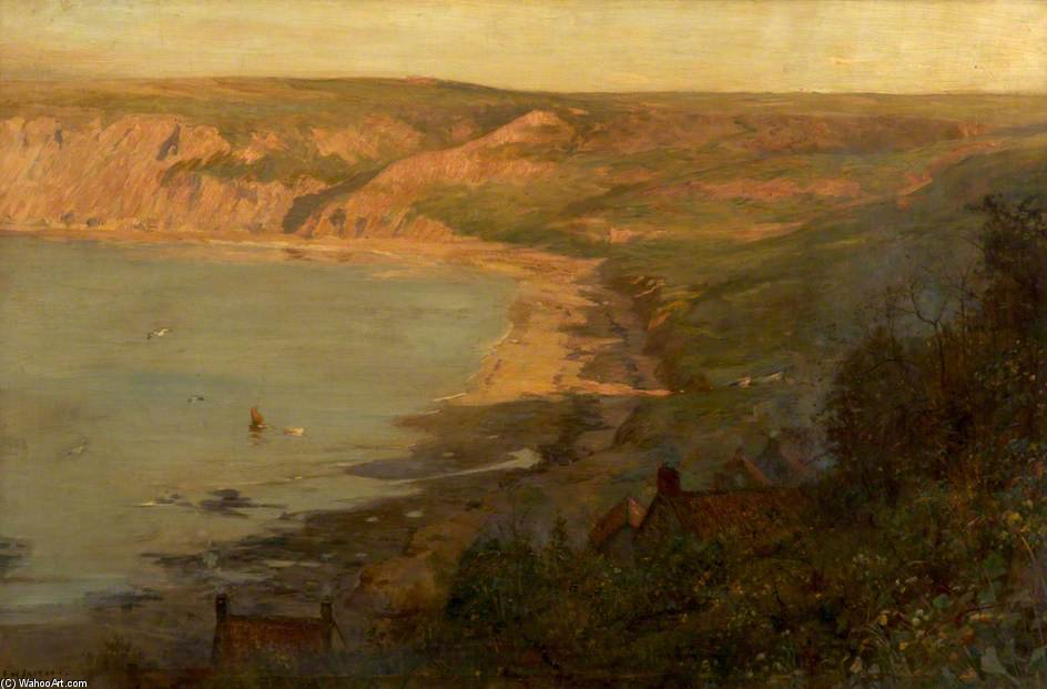 Runswick Bay, North Yorkshire de Frederick William Jackson (1859-1918, United Kingdom)