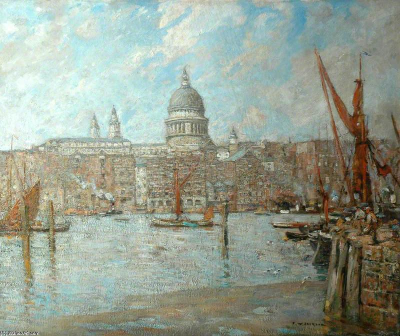 San Paul's , De londres de Frederick William Jackson (1859-1918, United Kingdom)