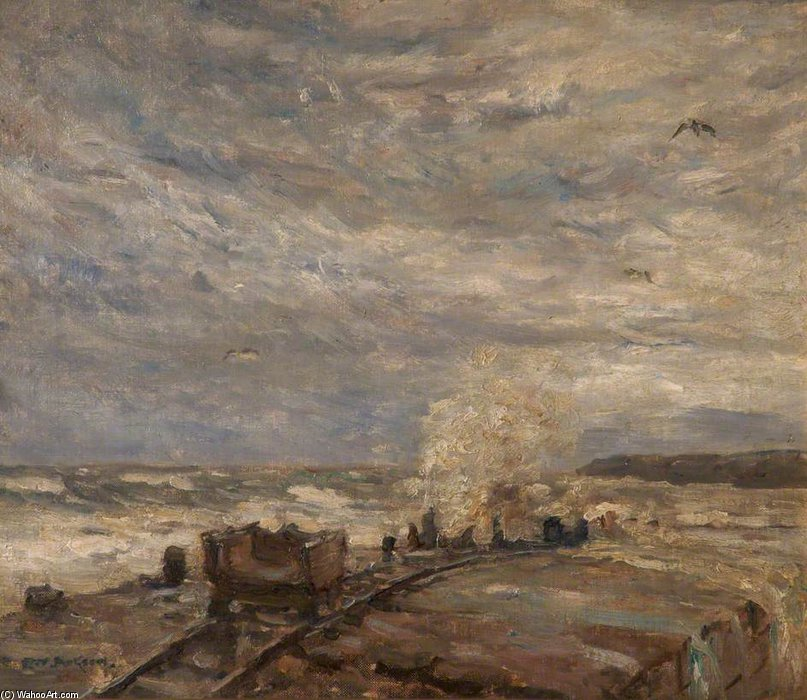 La Marea alta, Runswick Bay, North Yorkshire de Frederick William Jackson (1859-1918, United Kingdom)