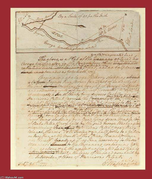 Washington , George , Presidente . Autógrafo Manuscrito Firmado de Frederick William Jackson (1843-1942, United States)