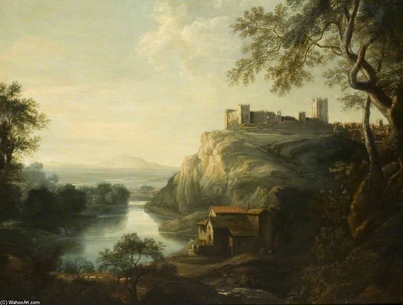 Castillo de Richmond, Yorkshire de George Lambert (1873-1930, Russia)