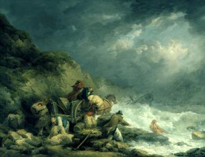 George Morland - The Wreckers