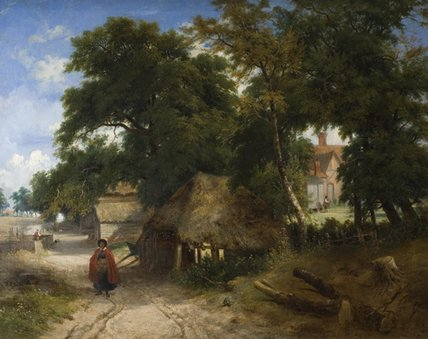 Una Granja Inglés de George Vincent (1796-1831, United Kingdom)