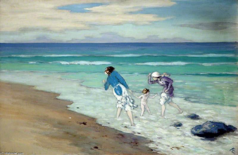 en la playa de George William Russell (1867-1935, Ireland) | ArtsDot.com