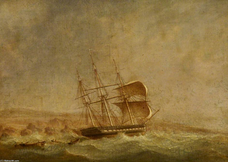 Hms pique Off Point Forteau de John Christian Schetky (1778-1874, United Kingdom) | Copia De La Pintura | ArtsDot.com