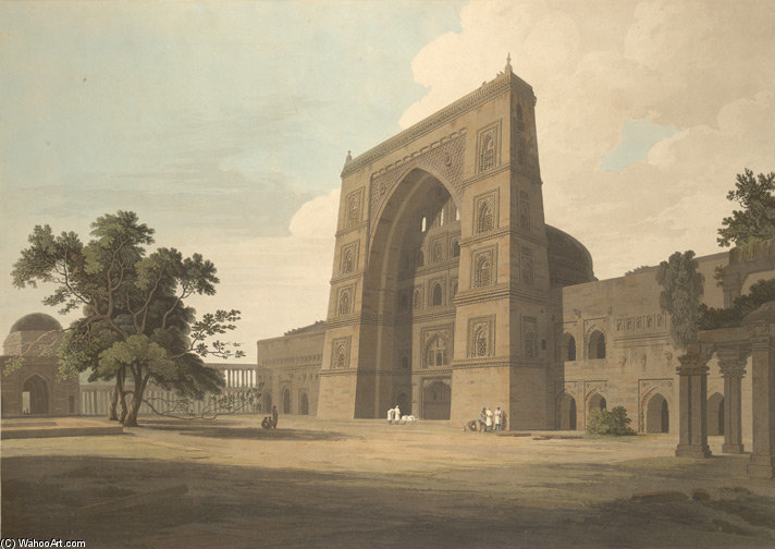 Jama Masjid, Jaunpur de Thomas And William Daniell (1769-1837, United Kingdom)