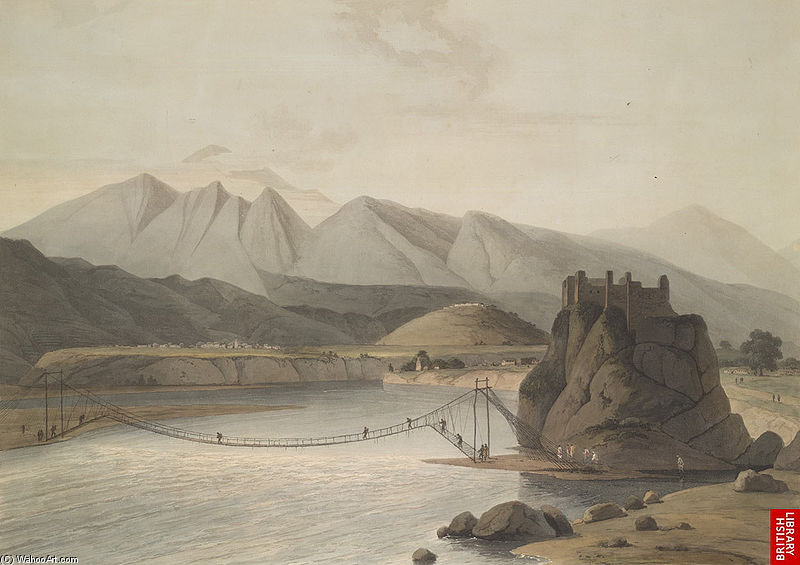 Srinagar, Garhwal de Thomas And William Daniell (1769-1837, United Kingdom)