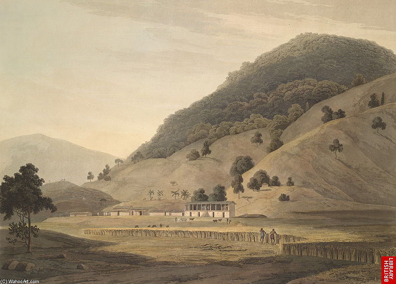 Village Jogiana, Cerca Duggada, Kotdwar, Uttarakhand de Thomas And William Daniell (1769-1837, United Kingdom)