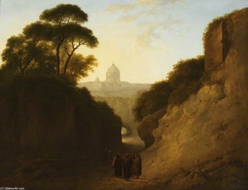 un lejano aspecto todaclasede Roma de Thomas Barker (1769-1847, United Kingdom)