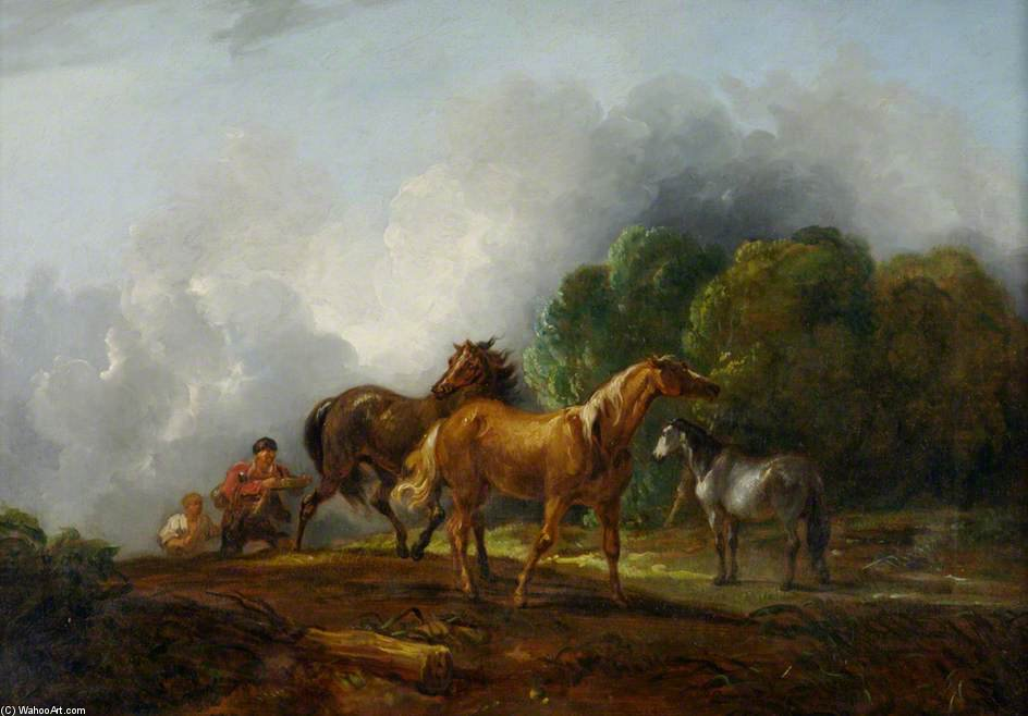 La captura de los Colts de Thomas Barker (1769-1847, United States)