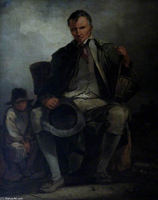 El mendigo ciego de Thomas Barker (1769-1847, United Kingdom)