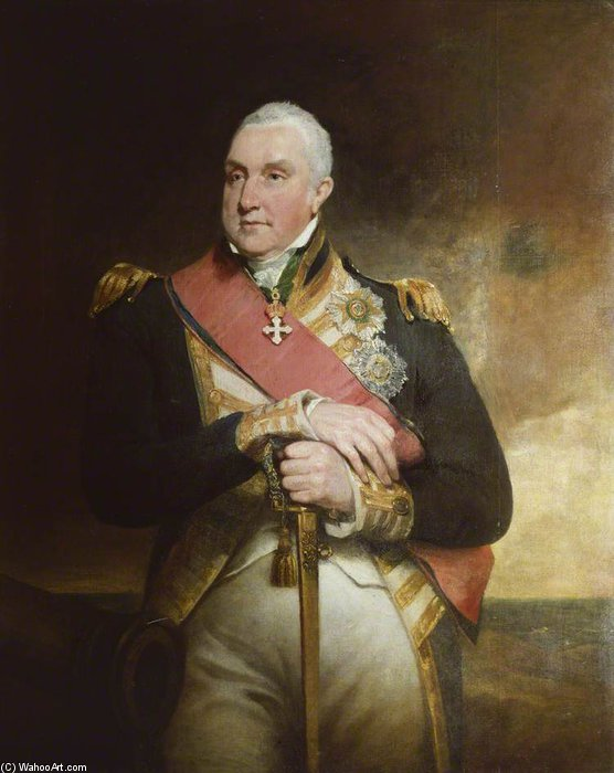 Almirante Edward Pellew, 1r vizconde Exmouth de William Owen (1769-1825, United Kingdom)