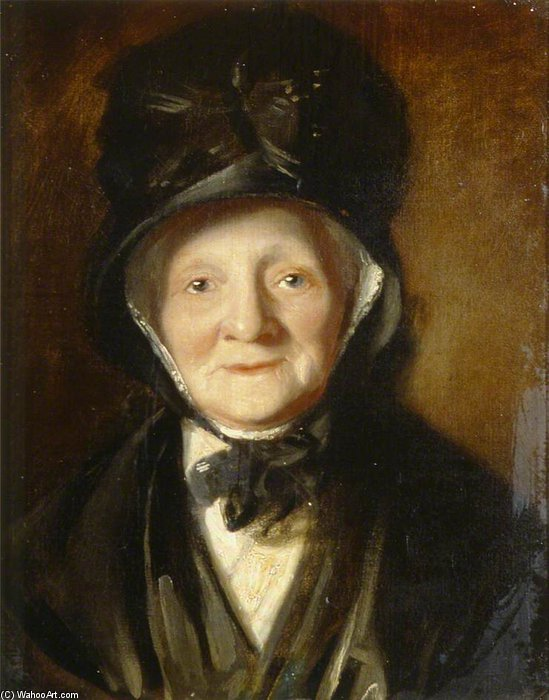 retrato de una viejo dama de William Owen (1769-1825, United Kingdom) | ArtsDot.com