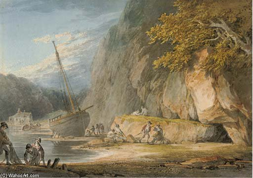 Combe Martin, Devon de William Payne (1760-1830, United Kingdom)