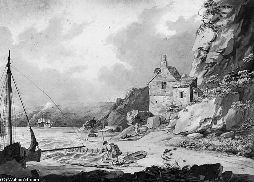 vista desde Casa de piedra Puente , Plymouth de William Payne (1760-1830, United Kingdom) | ArtsDot.com