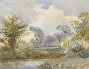 Frederick Waters (William) Watts - a río paisaje