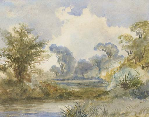 a río paisaje de Frederick Waters (William) Watts (1800-1870, United Kingdom)