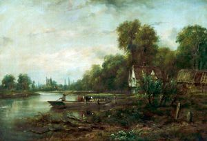Frederick Waters (William) Watts - Un Thames Ferry
