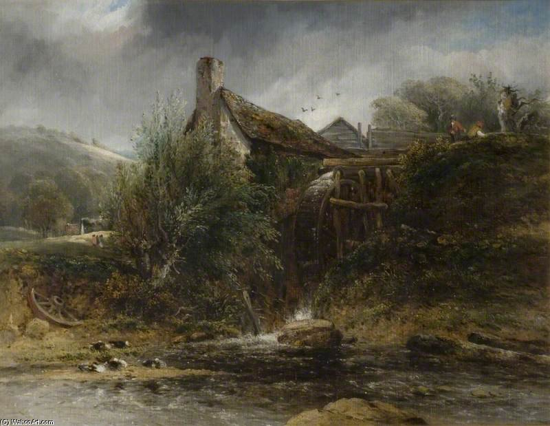 Un molino de agua cerca de Totnes, Devon de Frederick Waters (William) Watts (1800-1870, United Kingdom)