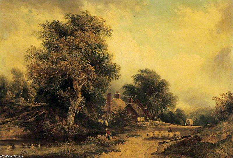 paisaje de Frederick Waters (William) Watts (1800-1870, United Kingdom)