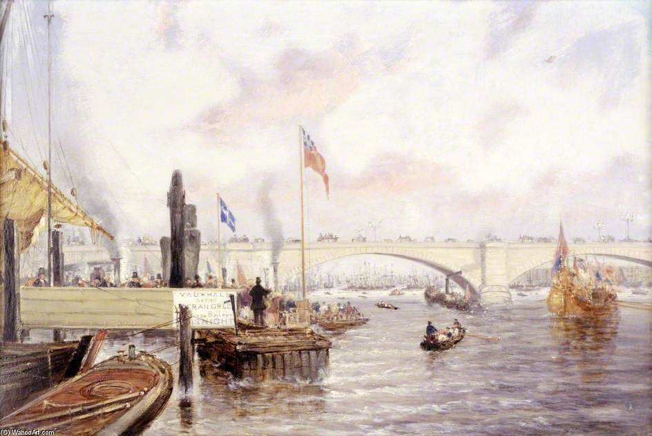 Londres puente de Frederick Waters Watts (1800-1870, United Kingdom)