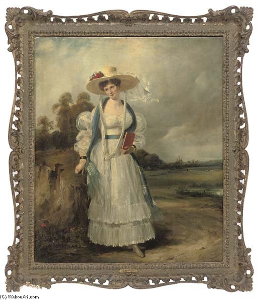 retrato de mrs . Chalders de Frederick Waters  (pedir Arte fino copia de la pintura Frederick Waters (William) Watts)