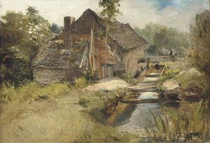 Frederick Waters (William) Watts - estudio de a molino