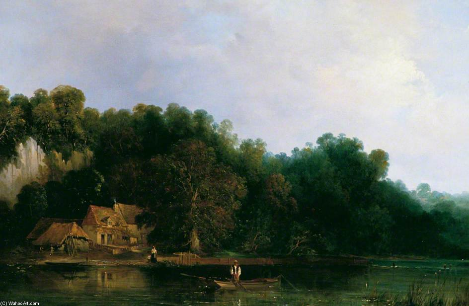 Vista del Thames Desde Tilehurst de Frederick Waters (William) Watts (1800-1870, United Kingdom)