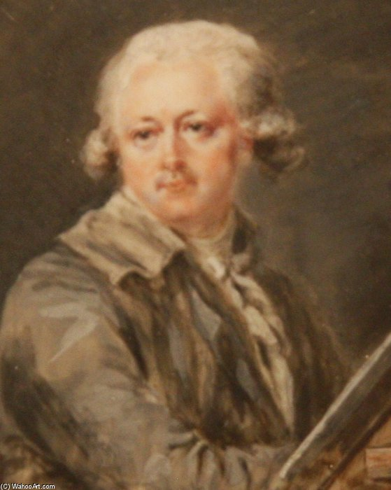 auto retrato de Peter Adolf Hall (1739-1793, Sweden)