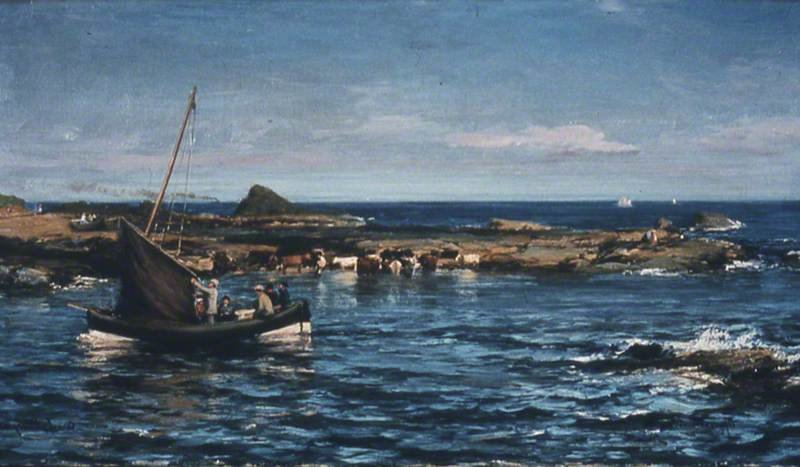 Canty Bay, North Berwick, East Lothian de David Farquharson (1839-1907, United Kingdom)