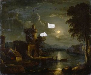 Henry Pether - Moonlit Landscape