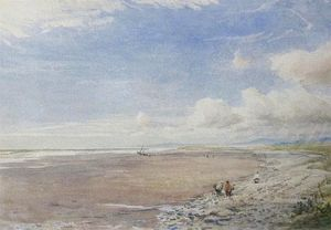 Thomas Collier - Escena de la playa En Morfa By..