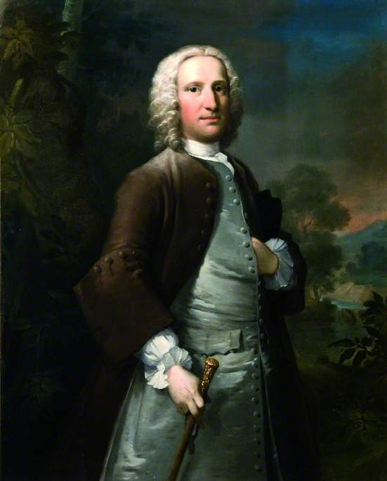 Sir Peter Thompson de Thomas Frye (1710-1762, Ireland)