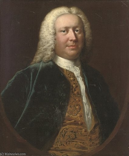 Retrato del Enrique Crispe De Catton de Thomas Frye (1710-1762, Ireland)