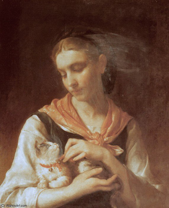 la gatita favorita de Emile Munier (1840-1895, France)